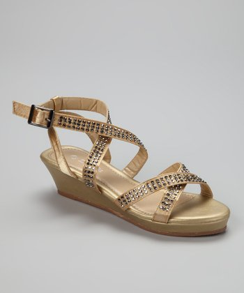 Gold Crisscross Junita Sandal