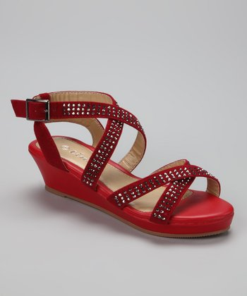 Red Crisscross Junita Sandal