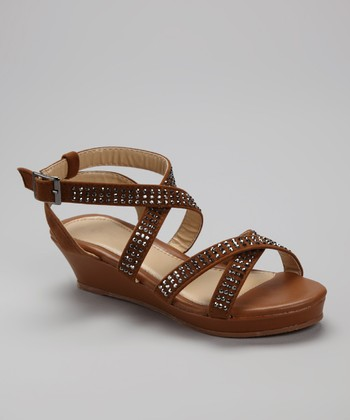 Tan Crisscross Junita Sandal