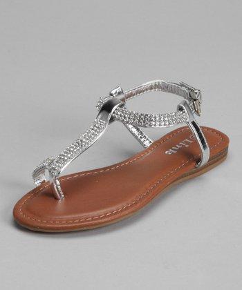 Silver Rhinestone Lidia Sandal
