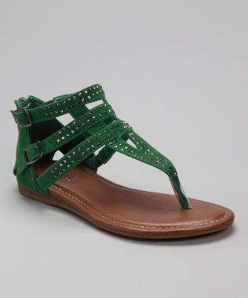 Green Lidia Sandal