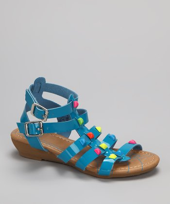 Light Blue Suzy-11 Gladiator Sandal