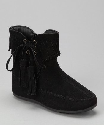 Black Katherine Tassel Ankle Boot
