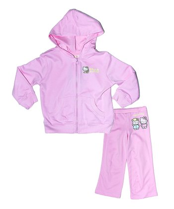 Pink Hello Kitty Organic Hoodie & Pants - Infant