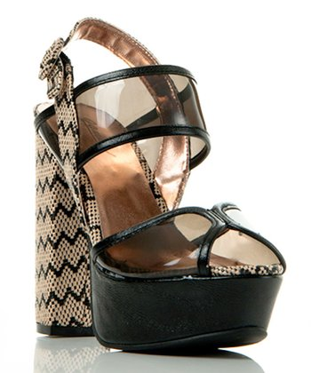 Black Transparent Beyond Compare Sandal