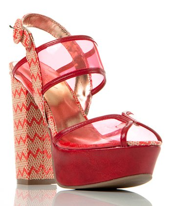 Red Transparent Beyond Compare Sandal