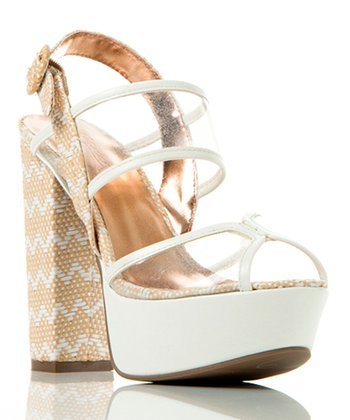 White Transparent Beyond Compare Sandal