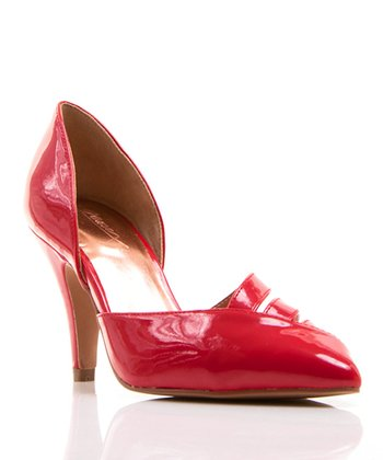 Red Patent Carabelle Pump