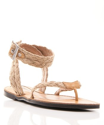 Natural Grecian Thong Sandal