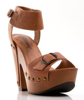 Light Brown Ankle Strap Jacqueline Sandal