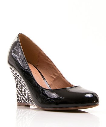 Black Patent Jinger Wedge