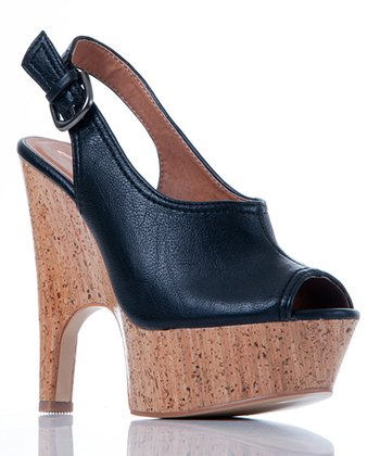 Black Tiny Dancer Slingback