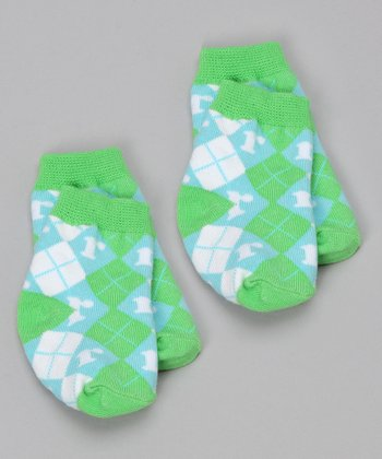 Blue & Green 'R' Socks Set