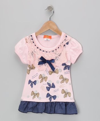 Pink Bow Dress - Infant
