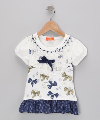 White Bow Dress - Infant