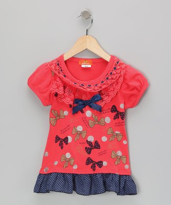 Red Bow Dress - Infant