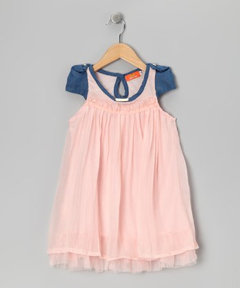 Pink & Blue Swing Dress - Girls