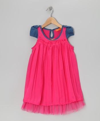 Rose & Blue Swing Dress - Girls