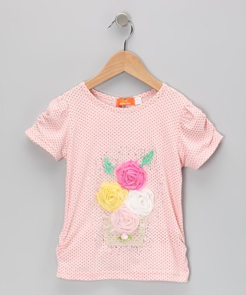 Pink Flower Basket Top - Toddler & Girls