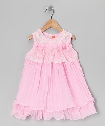 Pink Chiffon Dress - Girls