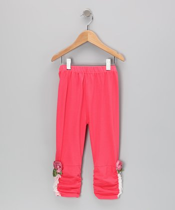Rose Bow Leggings - Toddler & Girls
