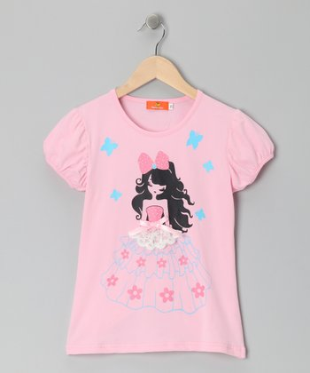 Pink Girl Bow Top - Girls