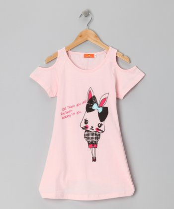 Pink Rabbit Top - Girls