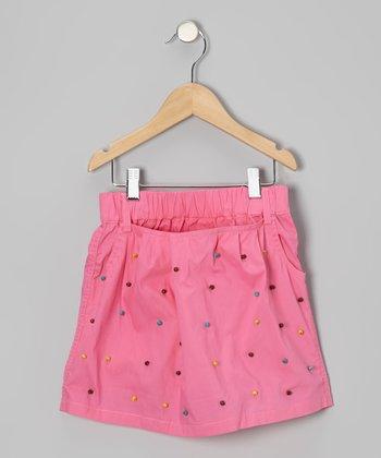 Pink Embellished Skort - Girls