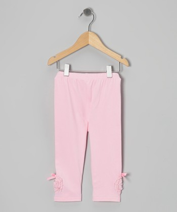 Pink Bow Leggings - Toddler & Girls