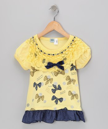 Yellow Bow Dress - Infant