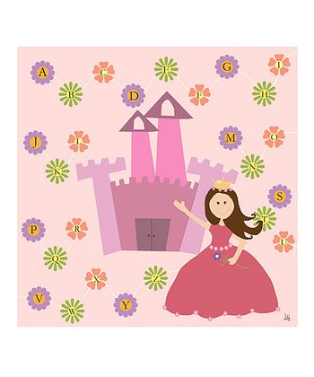 Princess ABC Canvas Print