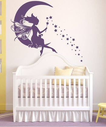 Violet Moon Fairy Wall Decal Set