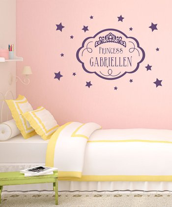Violet 'Princess' Personalized Wall Decal Set