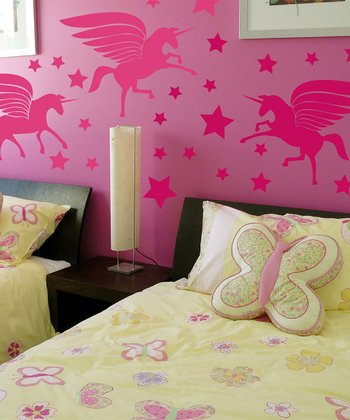 Pink Unicorn Magic Wall Decal Set