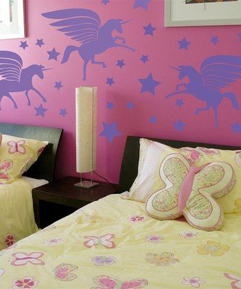 Lavender Unicorn Magic Wall Decal Set