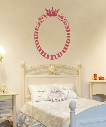 Princess Oval Frame Wall Decal