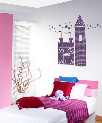 Violet Princess Castle Wall Decal Set
