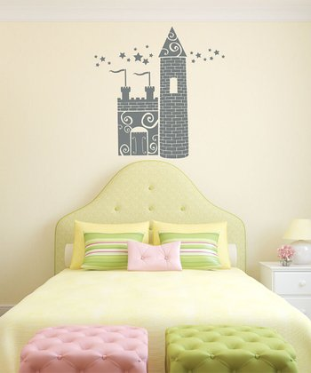 Gray Princess Castle Wall Decal Set