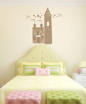 Beige Princess Castle Wall Decal Set