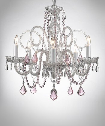 Pink Gallery Crystal Chandelier