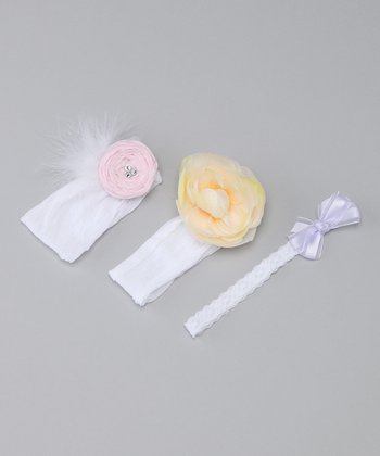 Cream & Pastel Baby Headband Set