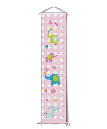 Pink Elephants Personalized Growth Chart