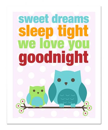 'Sweet Dreams Sleep Tight' Print
