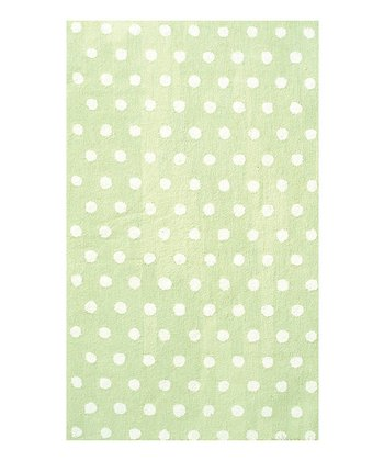 Green Dots Fufu Rug