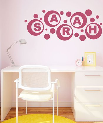 Lipstick Pink Personalized Wall Decal Set