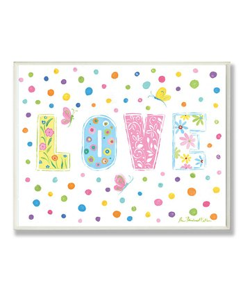 Polka Dot 'Love' Wall Art