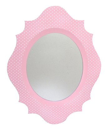 Pink & White Scallop Mirror
