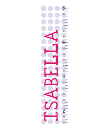 Purple Polka Dot Personalized Growth Chart