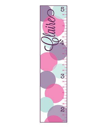 Sorbet Bubble Polka Dot Personalized Growth Chart