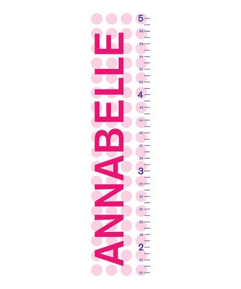 Pink Polka Dot Personalized Growth Chart